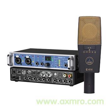 专业录音声卡 配爱科技C414XLII麦克风录音设备