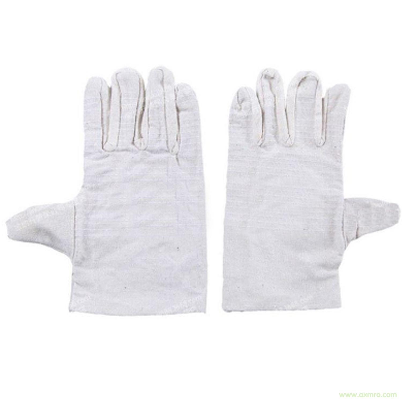 白帆布手套